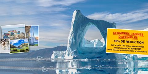 Croisière d'exception Groenland, Islande & Irlande